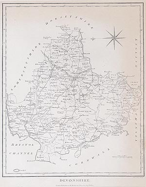 Antique Map of Devon by John Wilkes for sale