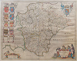 Blaeu map of Devon