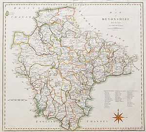 Antique Map of Devon by John Cary for sale