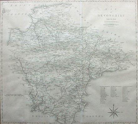 Cary - Devonshire Map