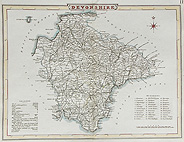 Devon map by Cole Roper for sale