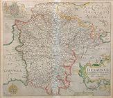 Saxton Kip map of Devon for sale