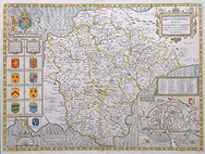 John Speed map od Devonshire for sale 1676
