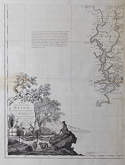 Plymouth map by Benjamin Donn 18th century