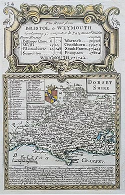 Thomas Moule antique map of Dorset for sale