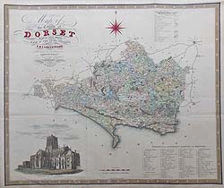 Greenwood large antique county map of Dorset for sale