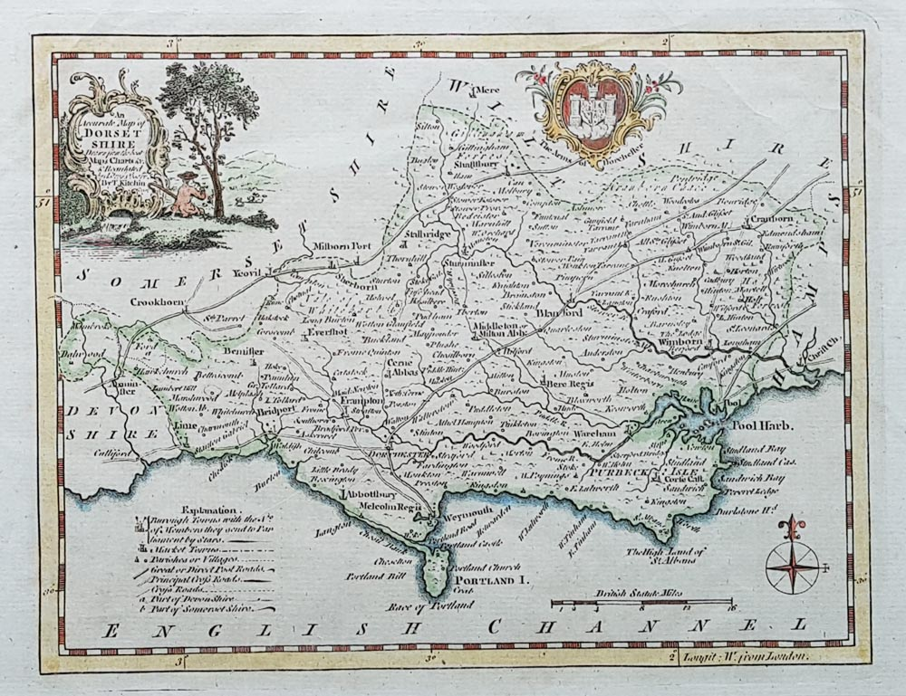 Dorset - Kitchin original antique map