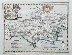 Thomas Kitchin antique map of Dorset for sale