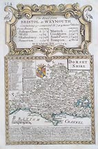 Dorsetshire 18th century map for sale