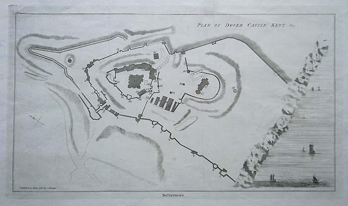 Antique Plan of Dover Castle