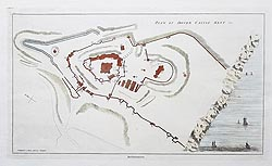 Dover Castle antique plan