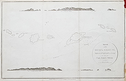 Antique sea chart of the Duff or Solomon Islands for sale