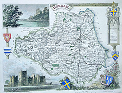 Moule map of Durham for sale