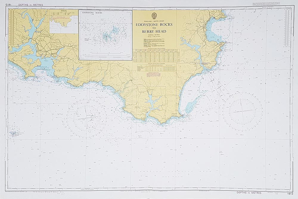 Vintage Admiralty Chart - South Devon 1972