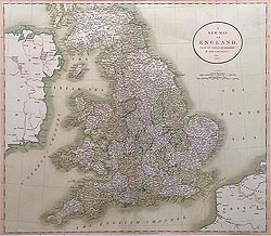 England and Wales map John Cary for sale