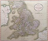 England and Wales 19th century map by Cary for sale