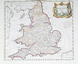 England and Wales 18th century map for sale