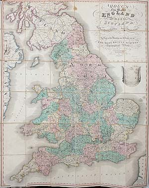 Georgian map of England and Wales for sale