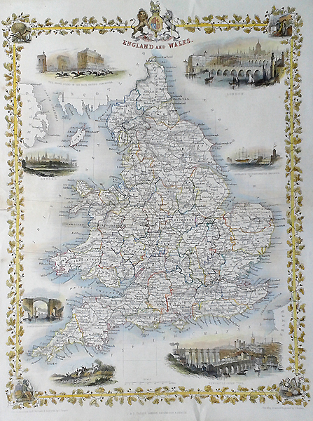 England and Wales map