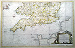 18th Century antique chart of the English Channel by Bellin