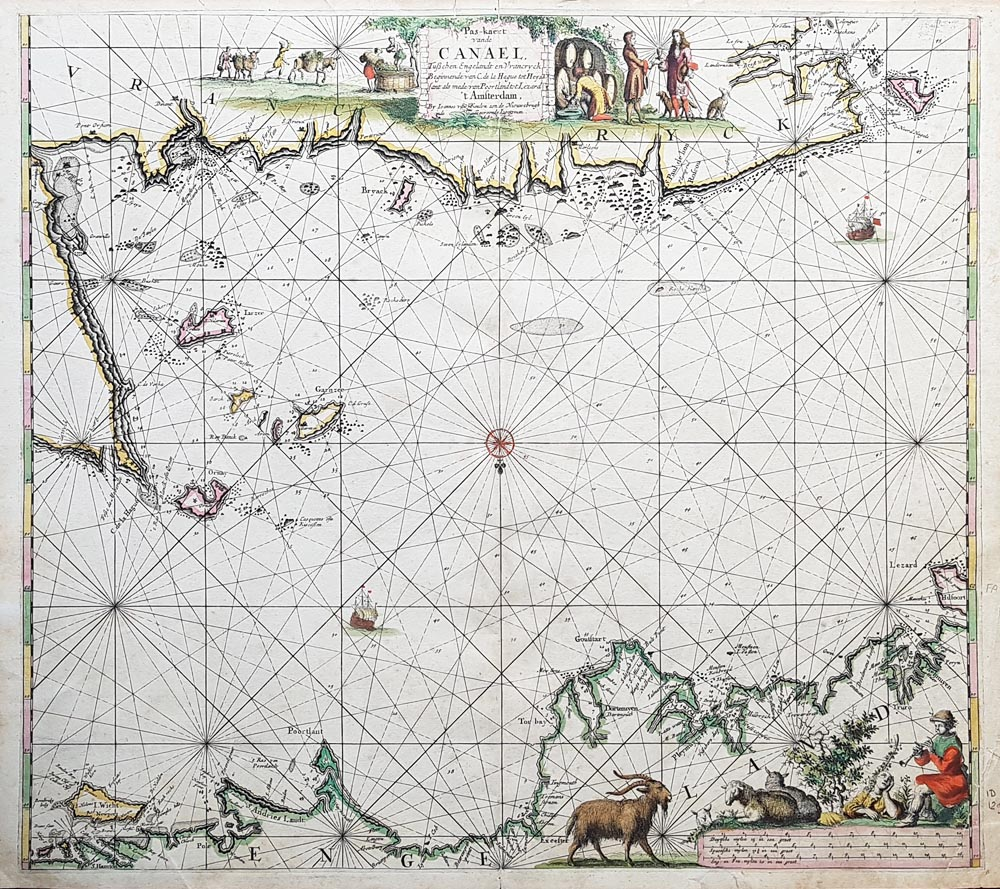 English Channel with Channel Islands Van Keulen for sale