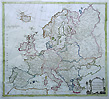 Europe 18th century antique map