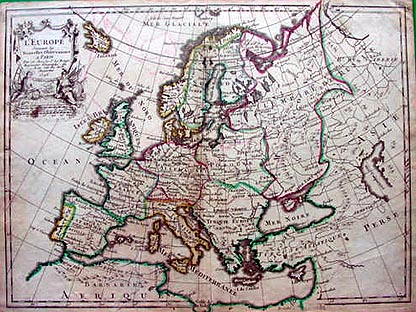 Antique Map Of Europe Dated 1746 By Le Rouge