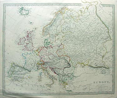 Antique map of Europe