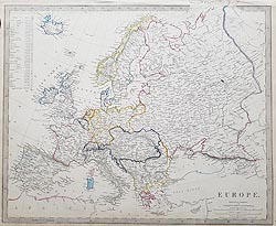Antique map of Europe for sale SDUK
