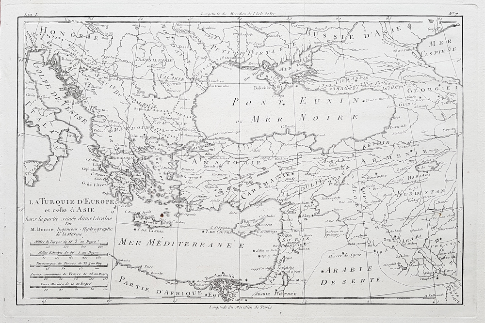 Greece and Asia Minor 18th century map for sale