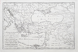 Greece and Asia Minor antique map for sale