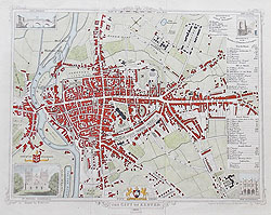 Exeter antique street map for sale
