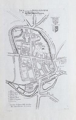 18th century map of Exeter by Stuckeley