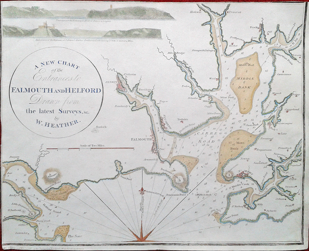 Falmouth and Helford 18th century chart