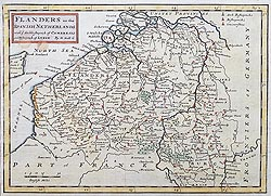 Flanders 18th century map