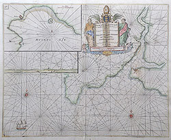 Greenville Collins Antique Chart of Fowey for sale