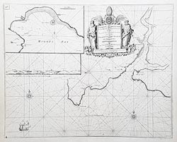 Fowey Cornwall antique nautical chart for sale