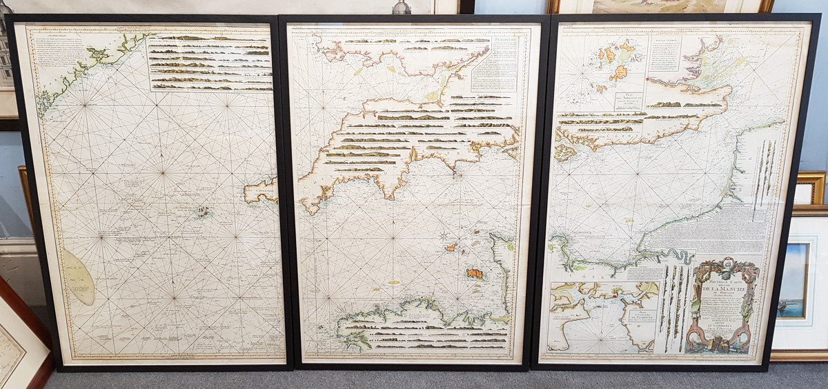 Antique chart picture framing