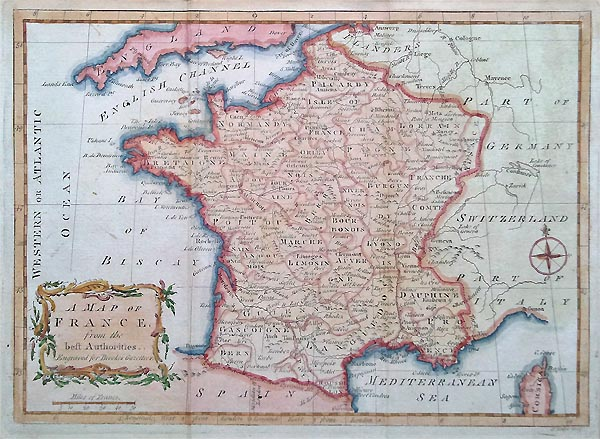 France 18th century map
