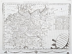 Empire of Germany 18th century map