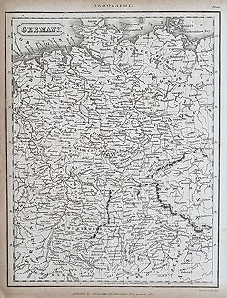 19th century map of Germany by Kelloy