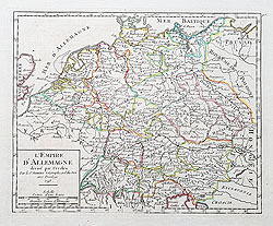 Vaugandy 18th century map of Germany