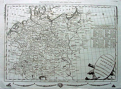 Antique map of the German Empire