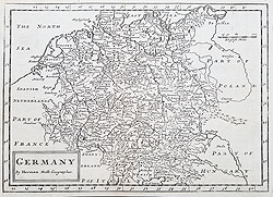 Antique maps of Germany Moll for sale