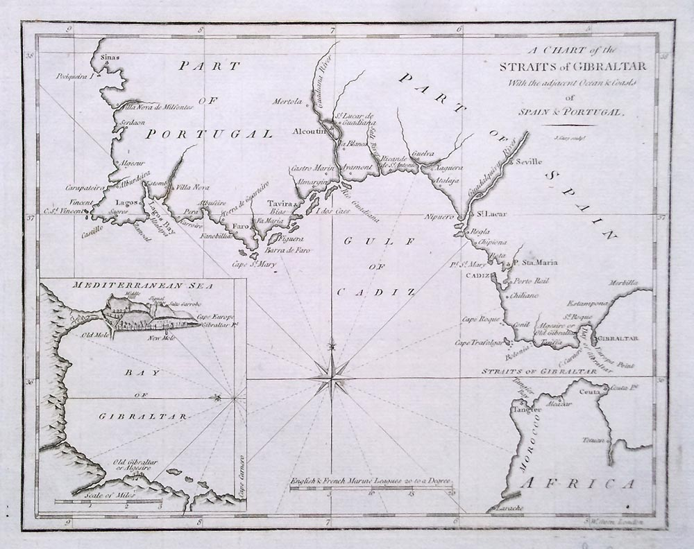 18th century Chart of Gibraltar