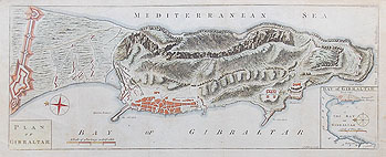 Gibraltar antique plan dated 1762 for sale