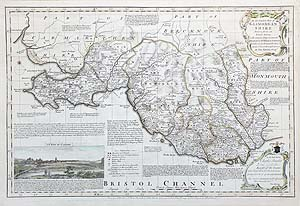 Antique map of Glamorganshire by Emanuel Bowen Royal English Atlas