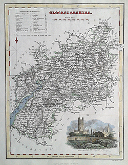 Gloucestershire antique maps for sale Fullarton map for sale