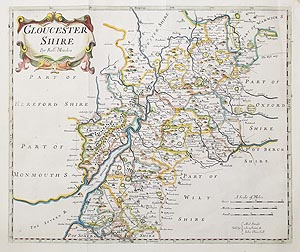 antique map of Gloucestershire by Morden