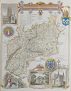 Gloucester county map for sale by Thomas Moule